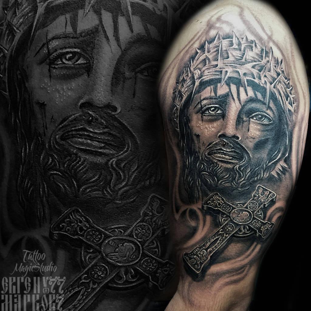 Иисустату кресттату Jesus cross tattoo