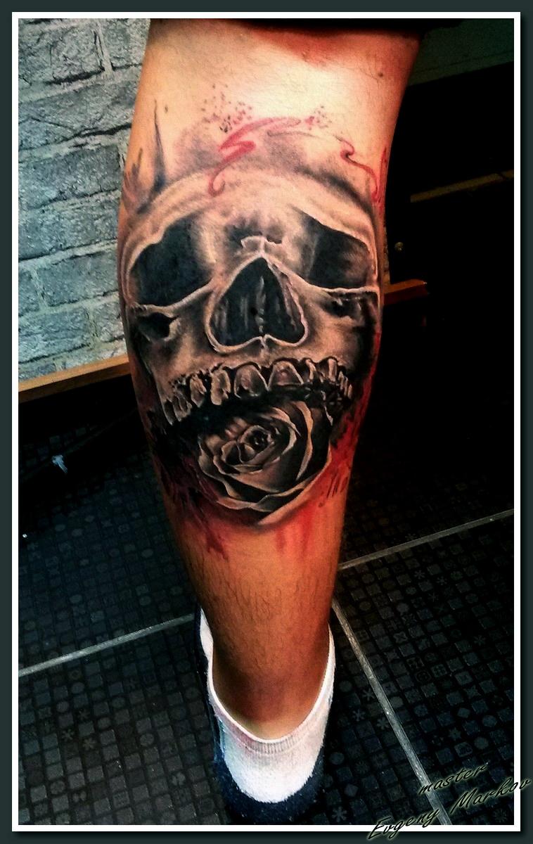 Череп Роза Buena Vista Tattoo