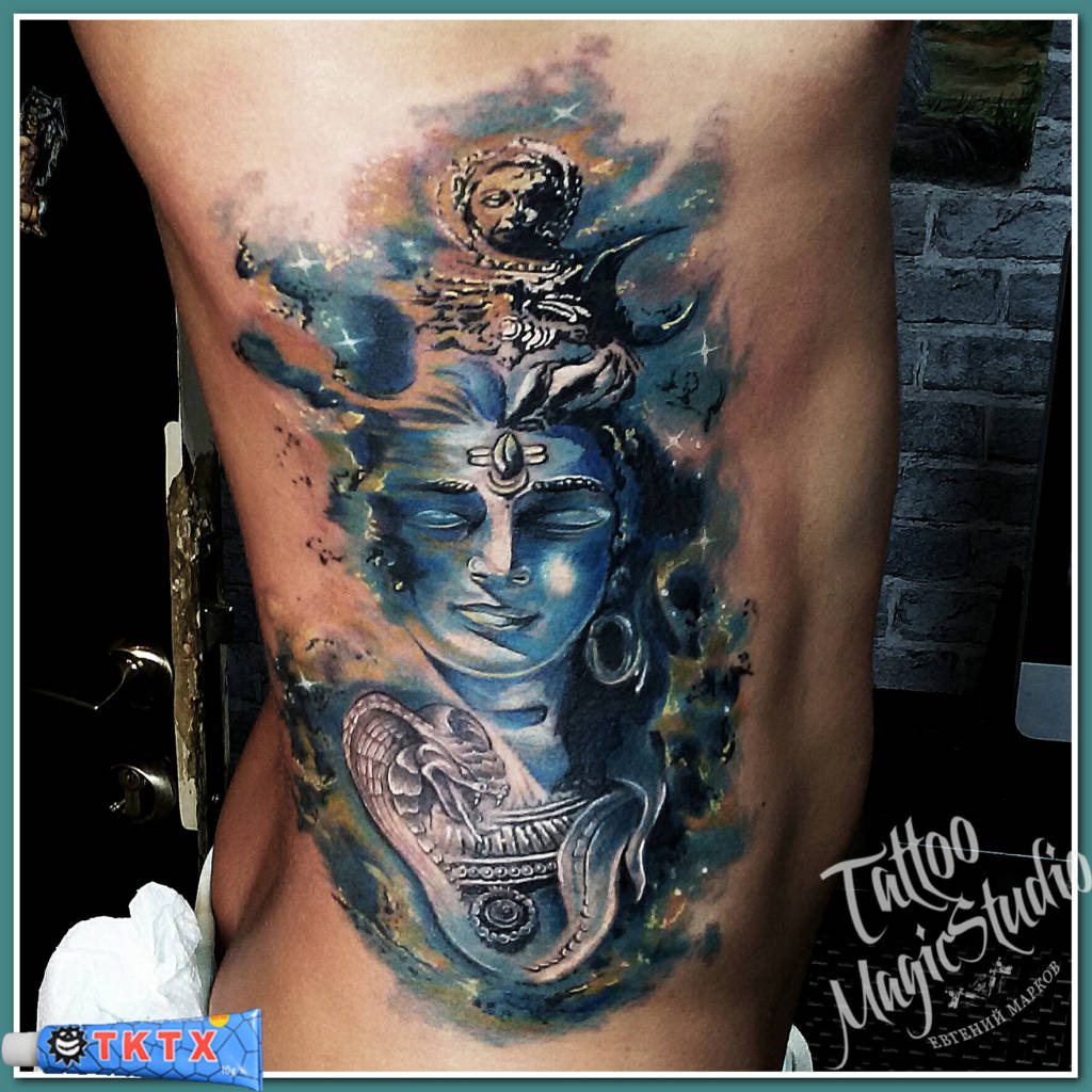 Шива космос  татуировка tattoo shiva space акварель watercolor