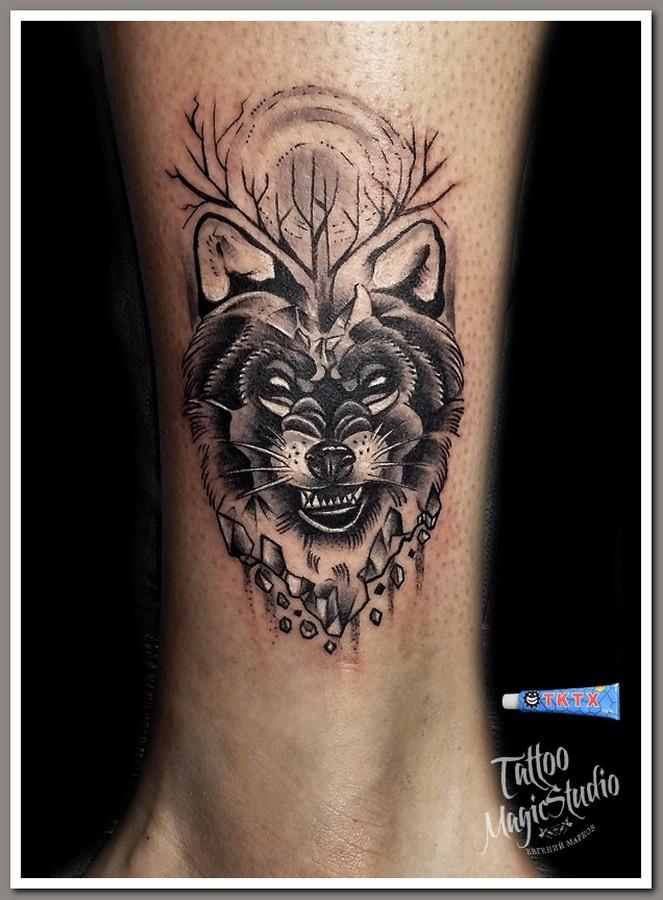 волк wolf миниатюра