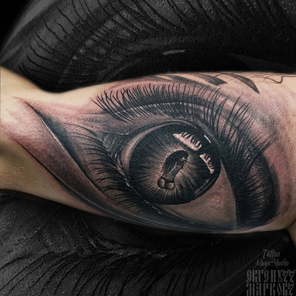 глаз реализм женский силует