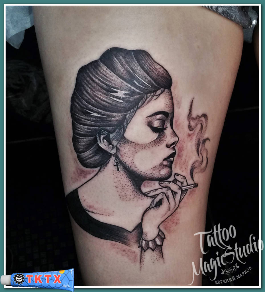 дама с сигаретой (по эскизу Matt Pettis)