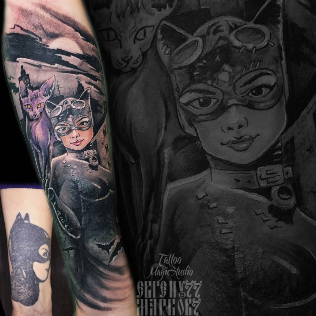 женщина кошка сфинкс комикс