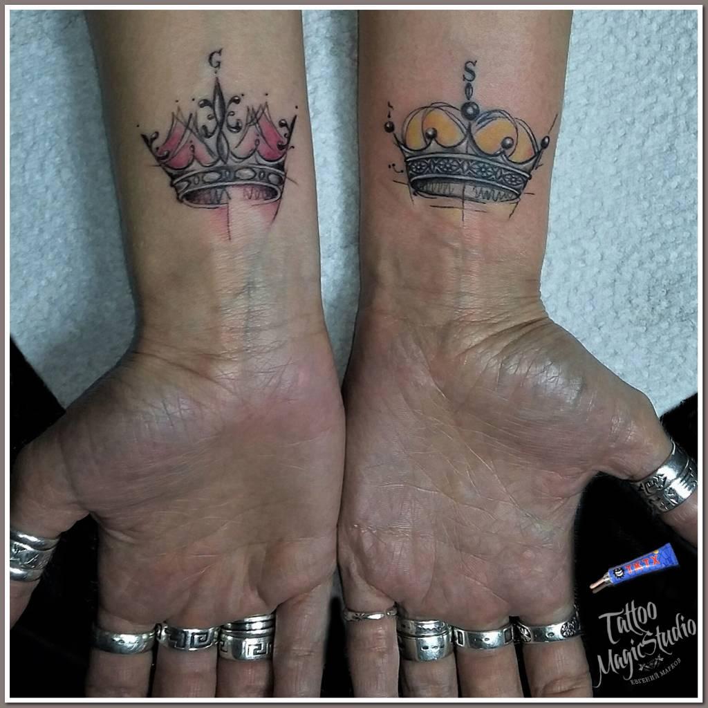 корона миниатюрная тату Crown miniature tattoo
