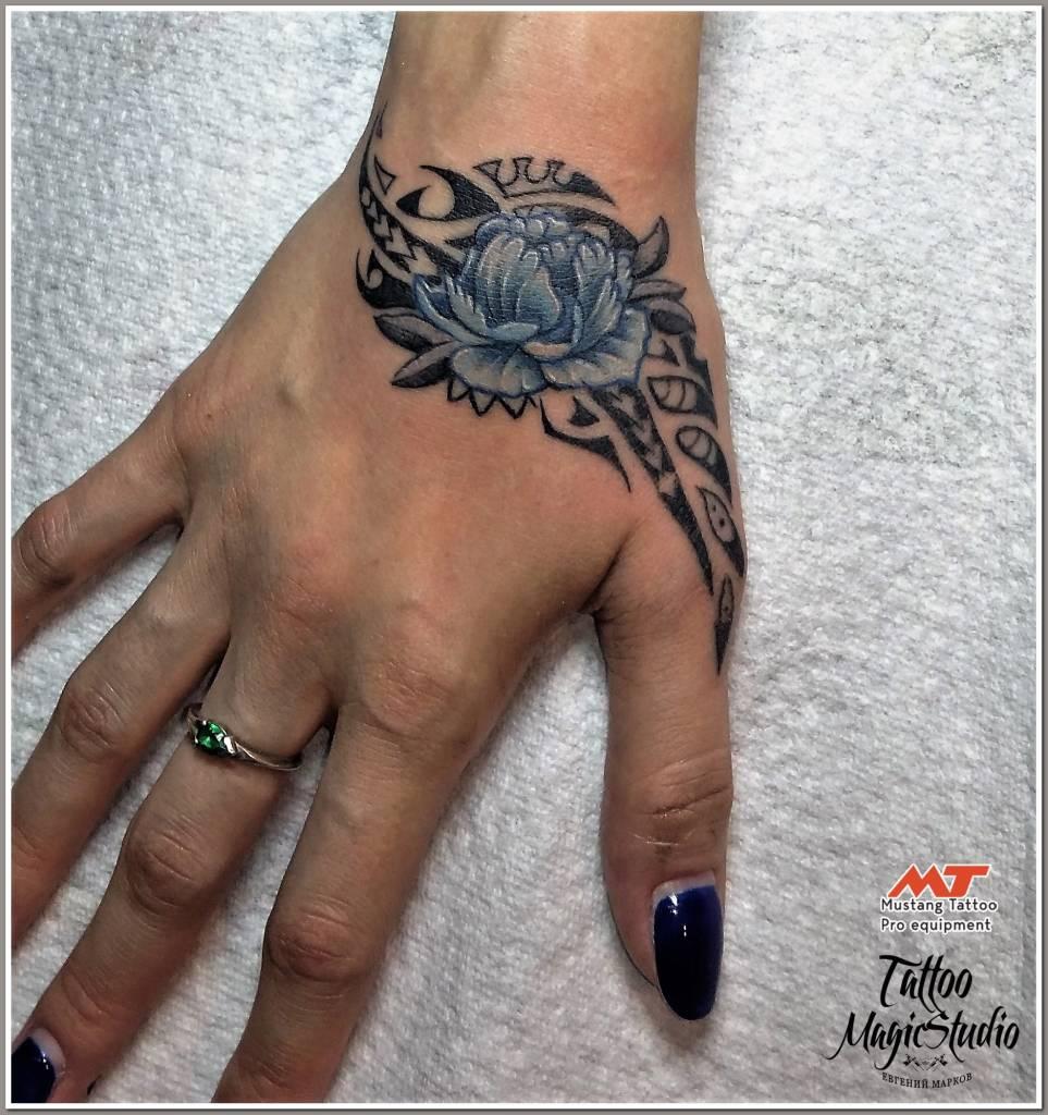 пион полинезия Pion polynesia tattoo