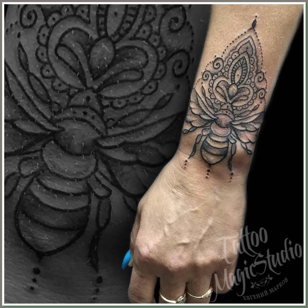 пчёлка орнамент миниатюрнаятату bee ornament miniature