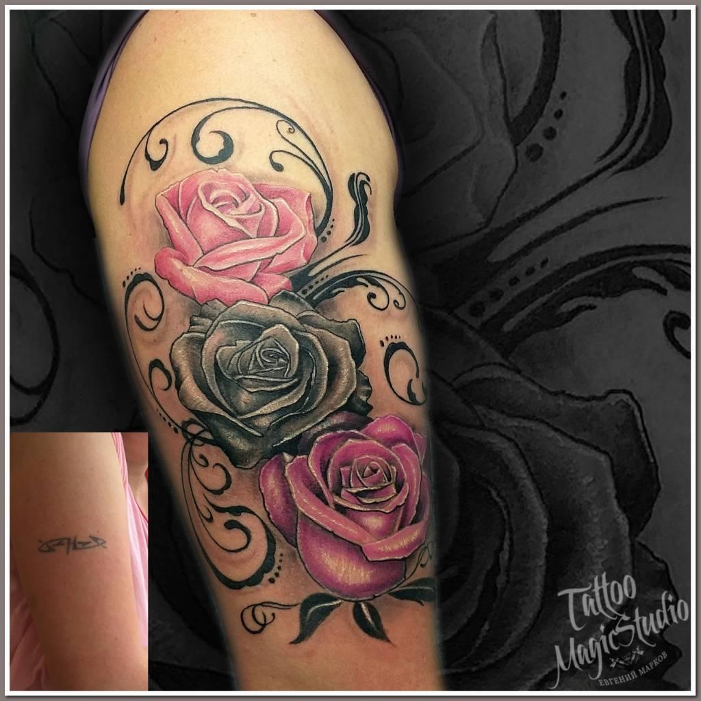 розы орнамент кавер roses ornament coverup