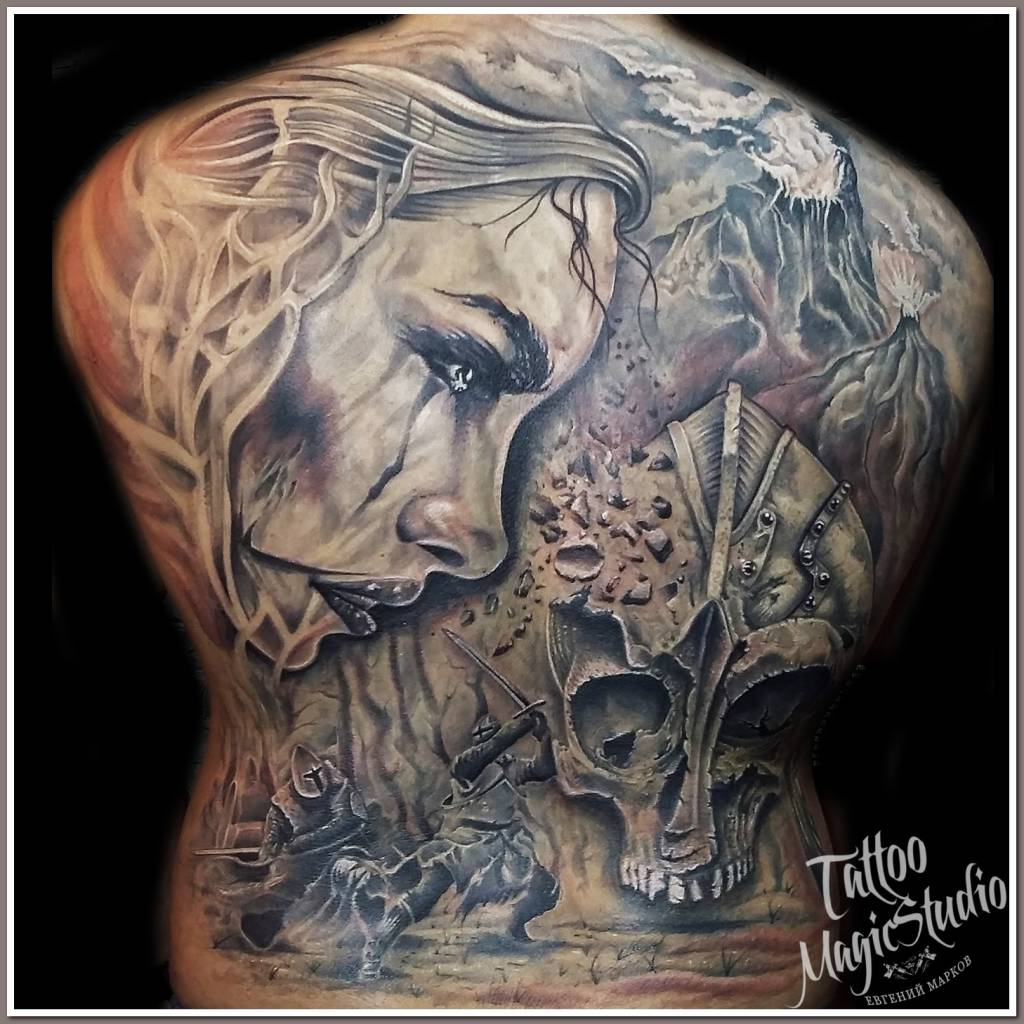 спина тату back tattoo