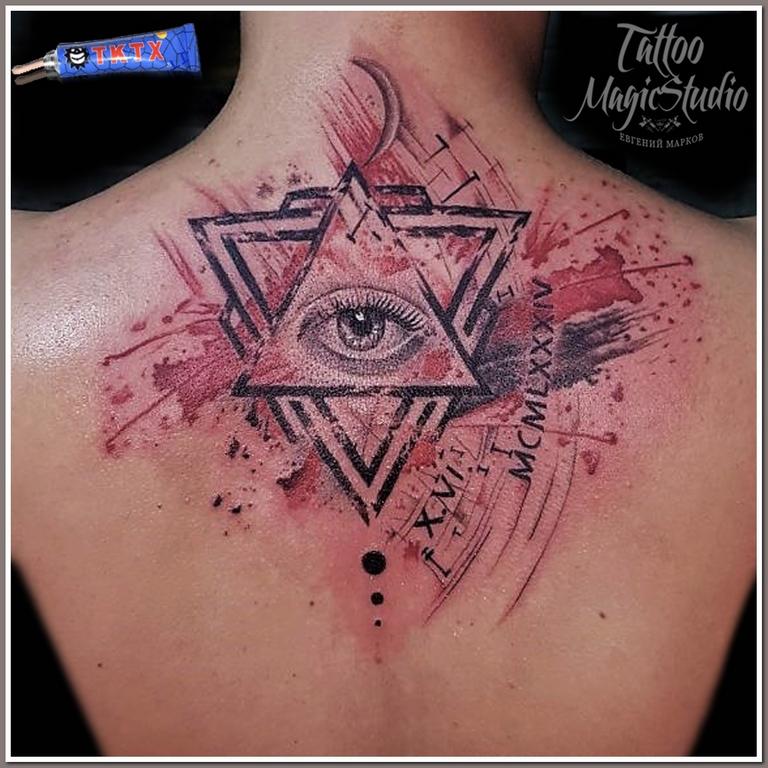 треш полька глаз в треугольнике ростущая луна графика trash polka eyes in a triangle growing moon graphics